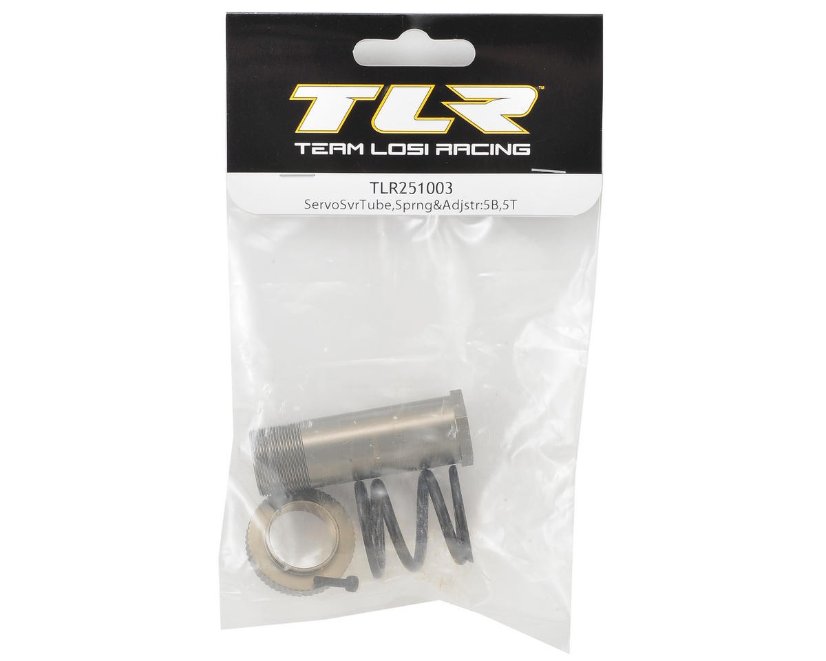 Team Losi Racing 5IVE-B Servo Saver Tube, Spring & Adjuster