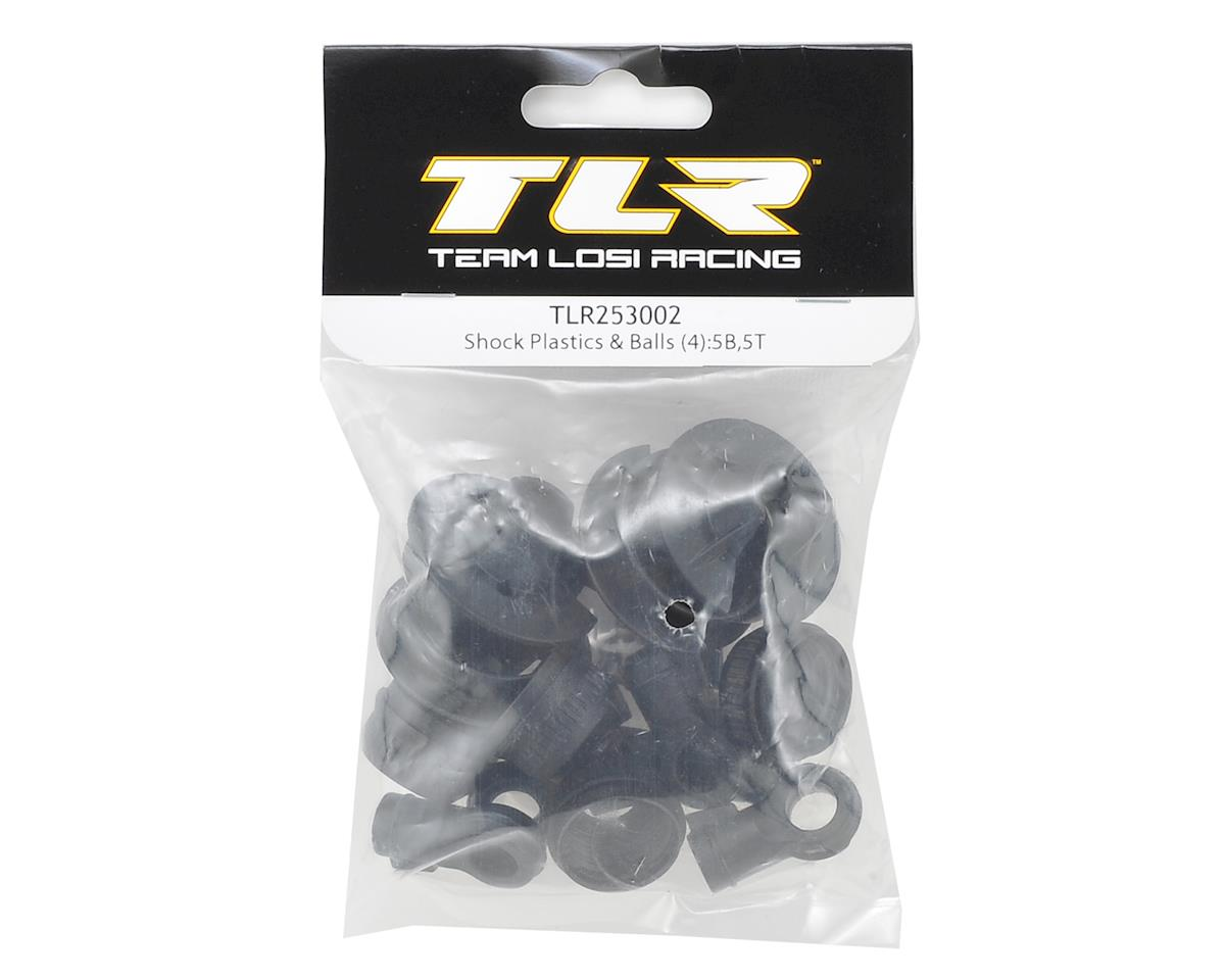 Team Losi Racing 5IVE-B Shock Plastics & Balls (4)