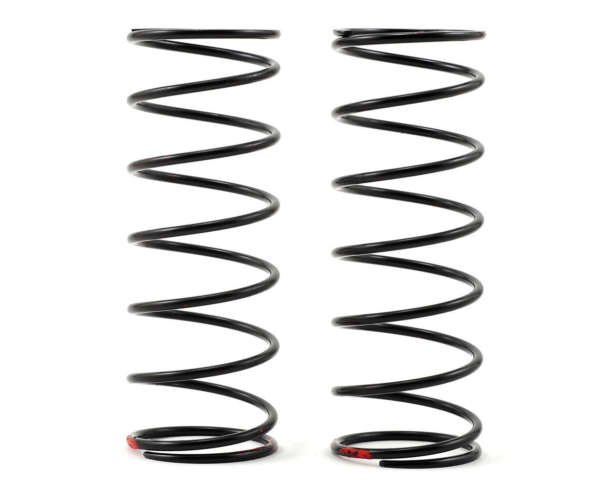 Team Losi Racing 5IVE-B Front Shock Spring (2) (Red - 9.1 lb Rate)