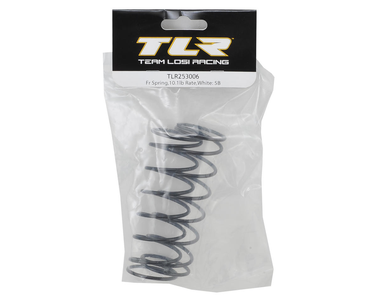 Team Losi Racing 5IVE-B Front Shock Spring (2) (White - 10.1 lb Rate)