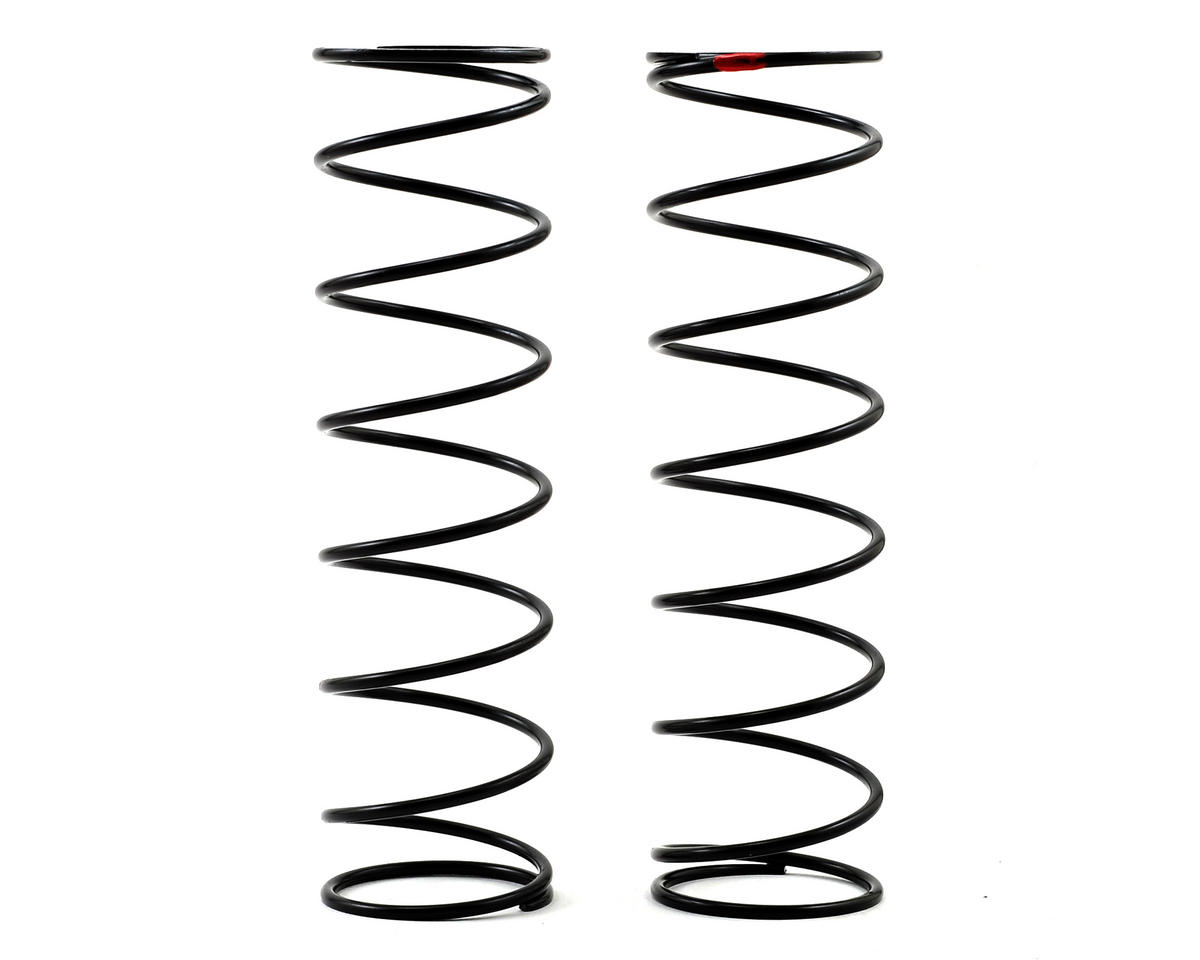 5IVE-B Rear Shock Spring (2) (Red - 6.1 lb Rate) by Team Losi Racing