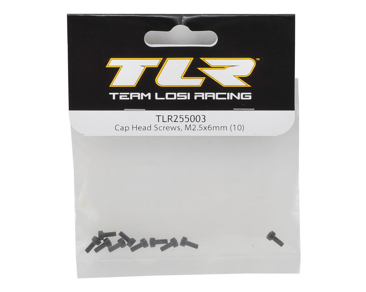 Team Losi Racing 2.5x6mm Cap Head Hex Screw (10)