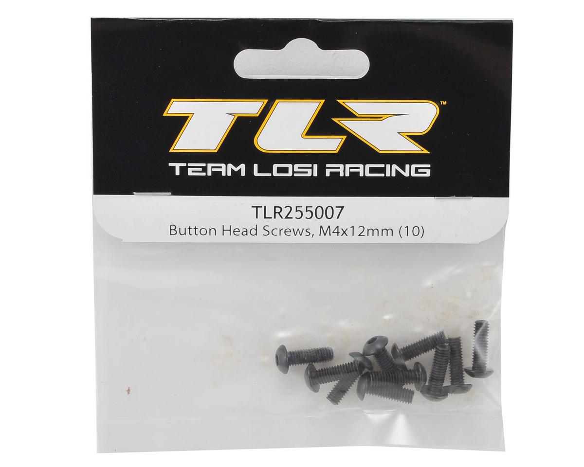 Team Losi Racing 4x12mm Button Head Hex Screw (10)