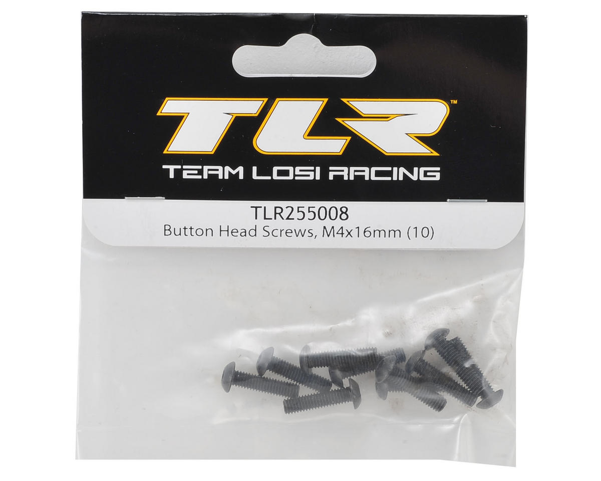 Team Losi Racing 4x16mm Button Head Hex Screw (10)