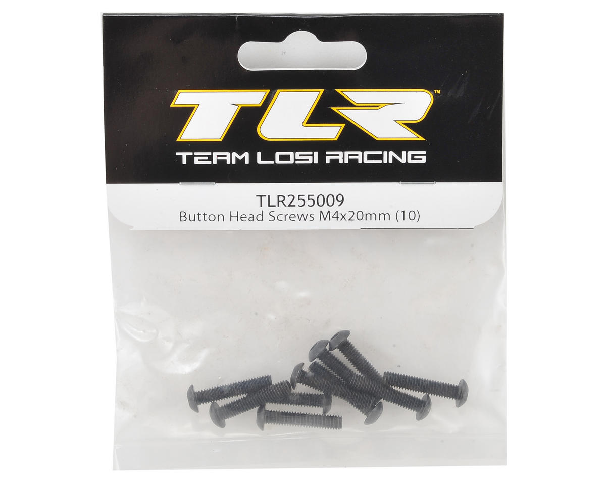 Team Losi Racing 4x20mm Button Head Hex Screws (10)