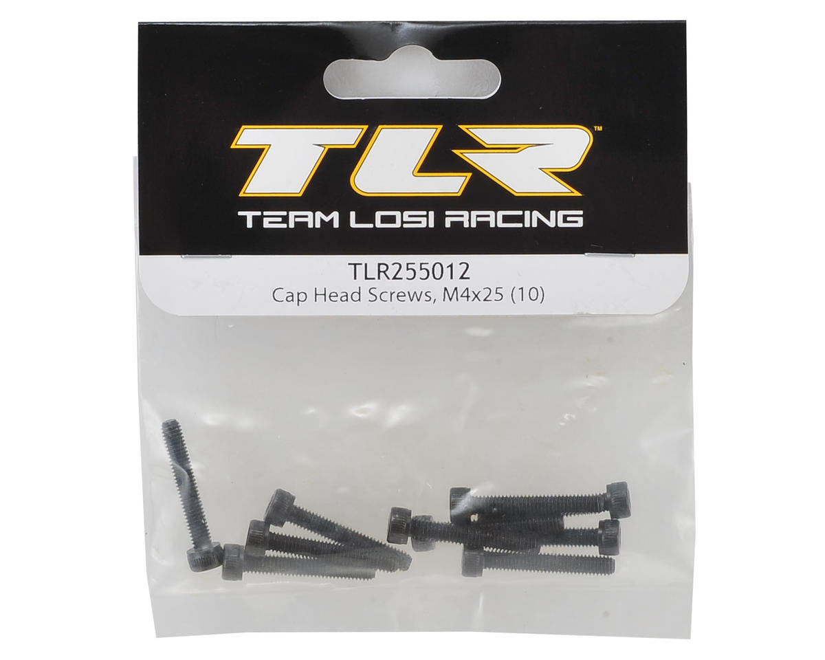 Team Losi Racing 4x25mm Cap Head Hex Screw (10)