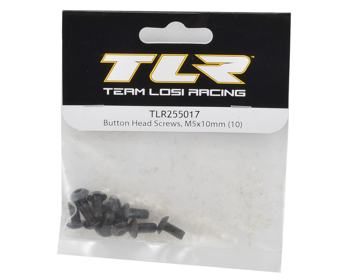 Team Losi Racing 5x10mm Button Head Hex Screw (10)