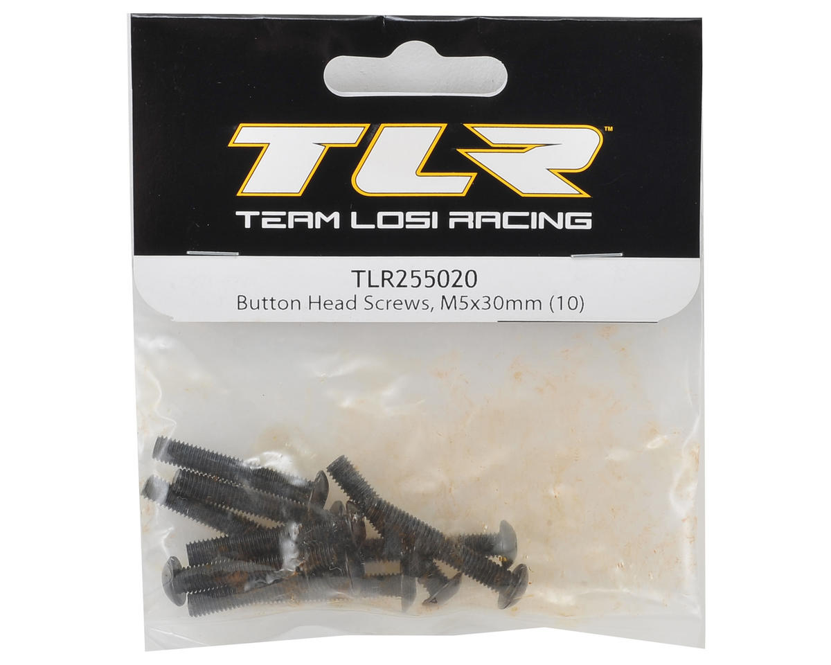 Team Losi Racing 5x30mm Button Head Hex Screw (10)