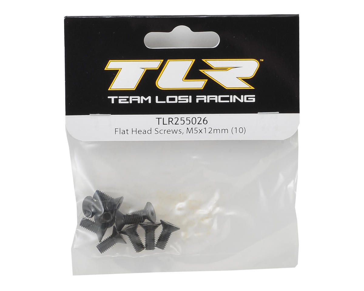 Team Losi Racing 5x12mm Flat Head Screw (10)