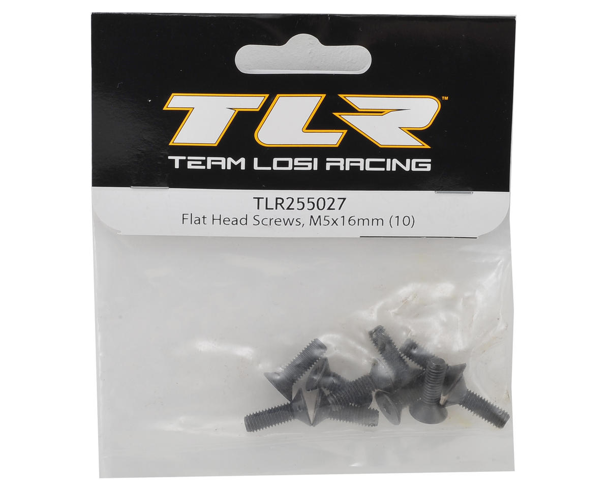 Team Losi Racing 5x16mm Flat Head Hex Screw (10)