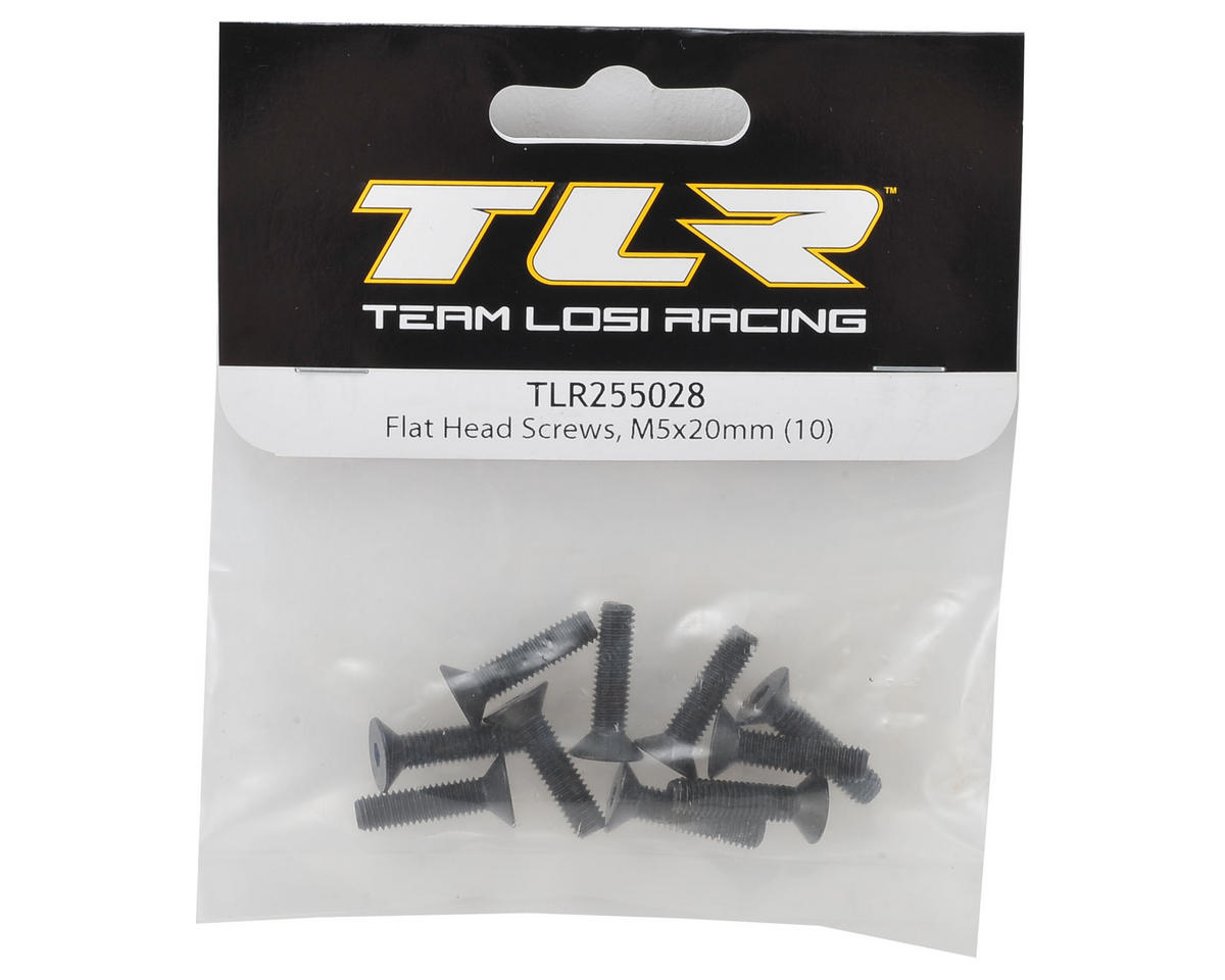 Team Losi Racing 5x20mm Flat Head Hex Screw (10)