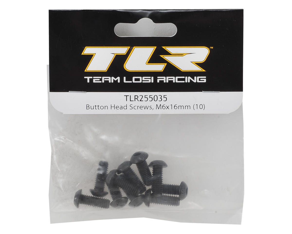 6x16mm Button Head Hex Screw (10) by Team Losi Racing