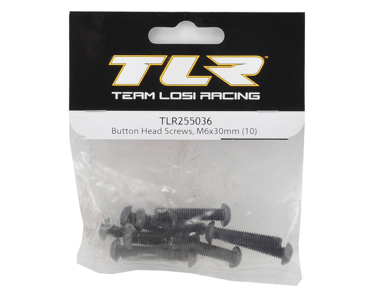 Team Losi Racing 6x30mm Button Head Hex Screw (10)