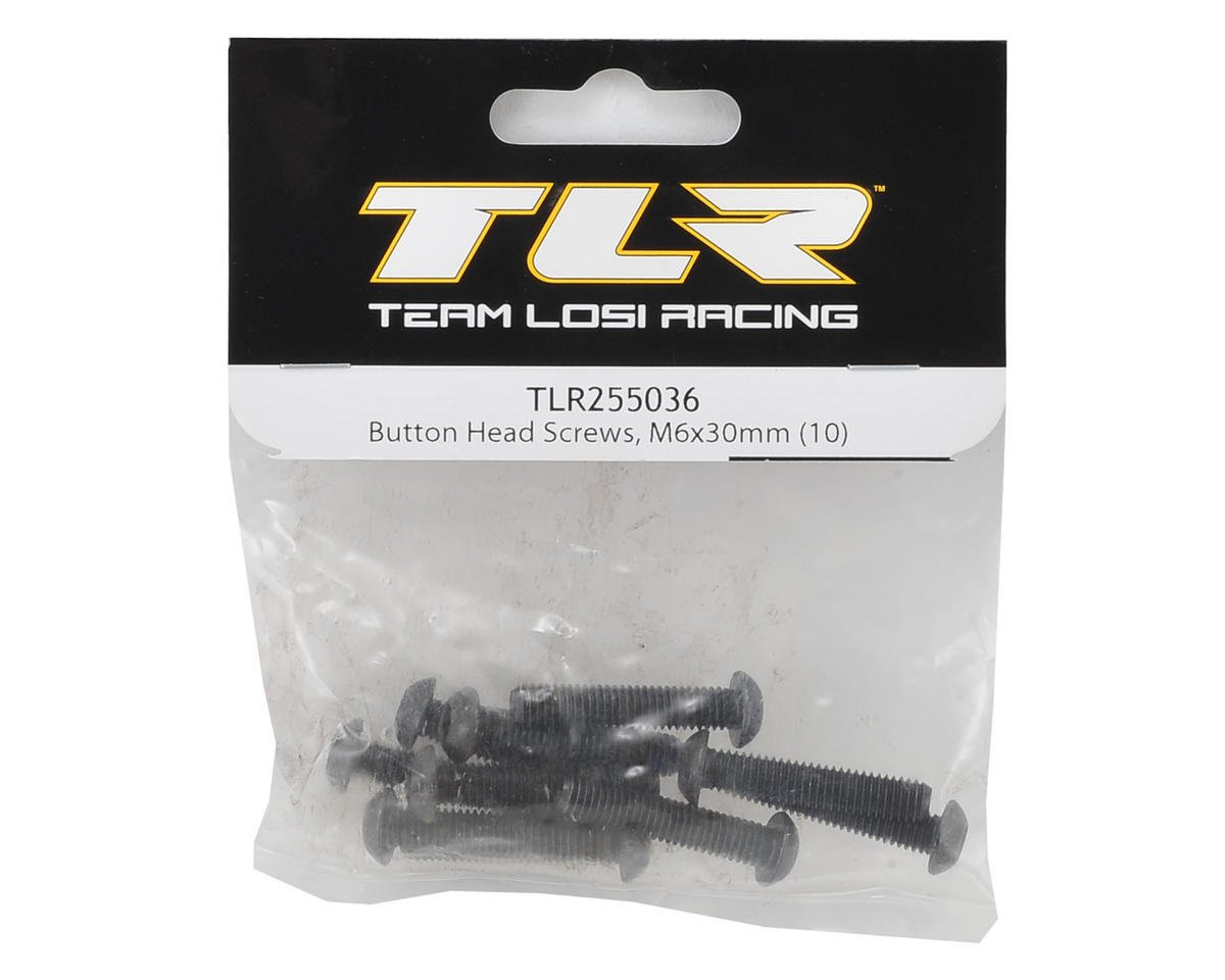 6x30mm Button Head Hex Screw (10) by Team Losi Racing