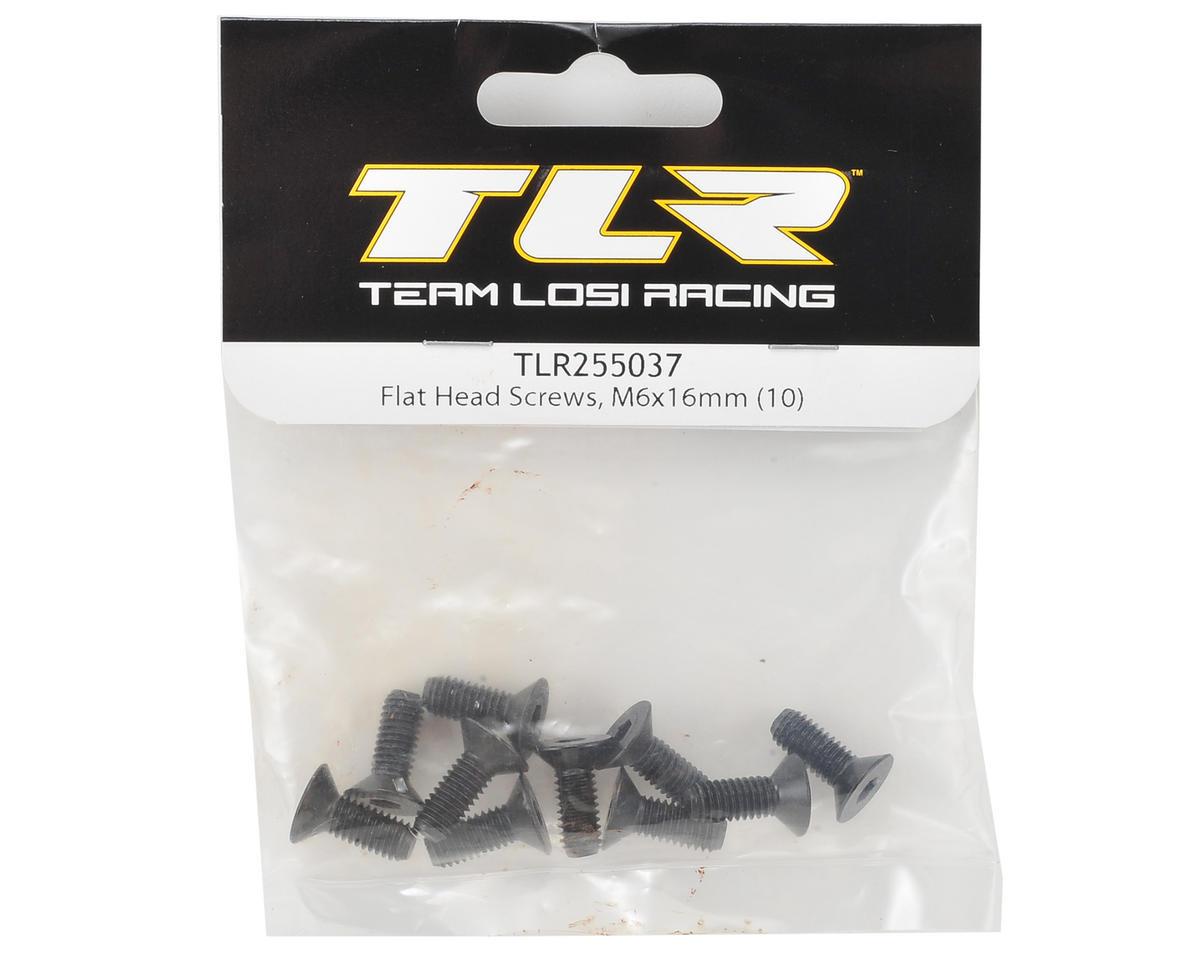 Team Losi Racing 6x16mm Flat Head Hex Screws (10)