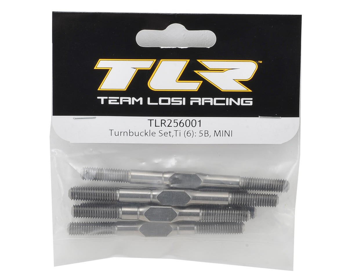 Team Losi Racing 5IVE-B/5IVE Mini WRC Titanium Turnbuckle Set (6)