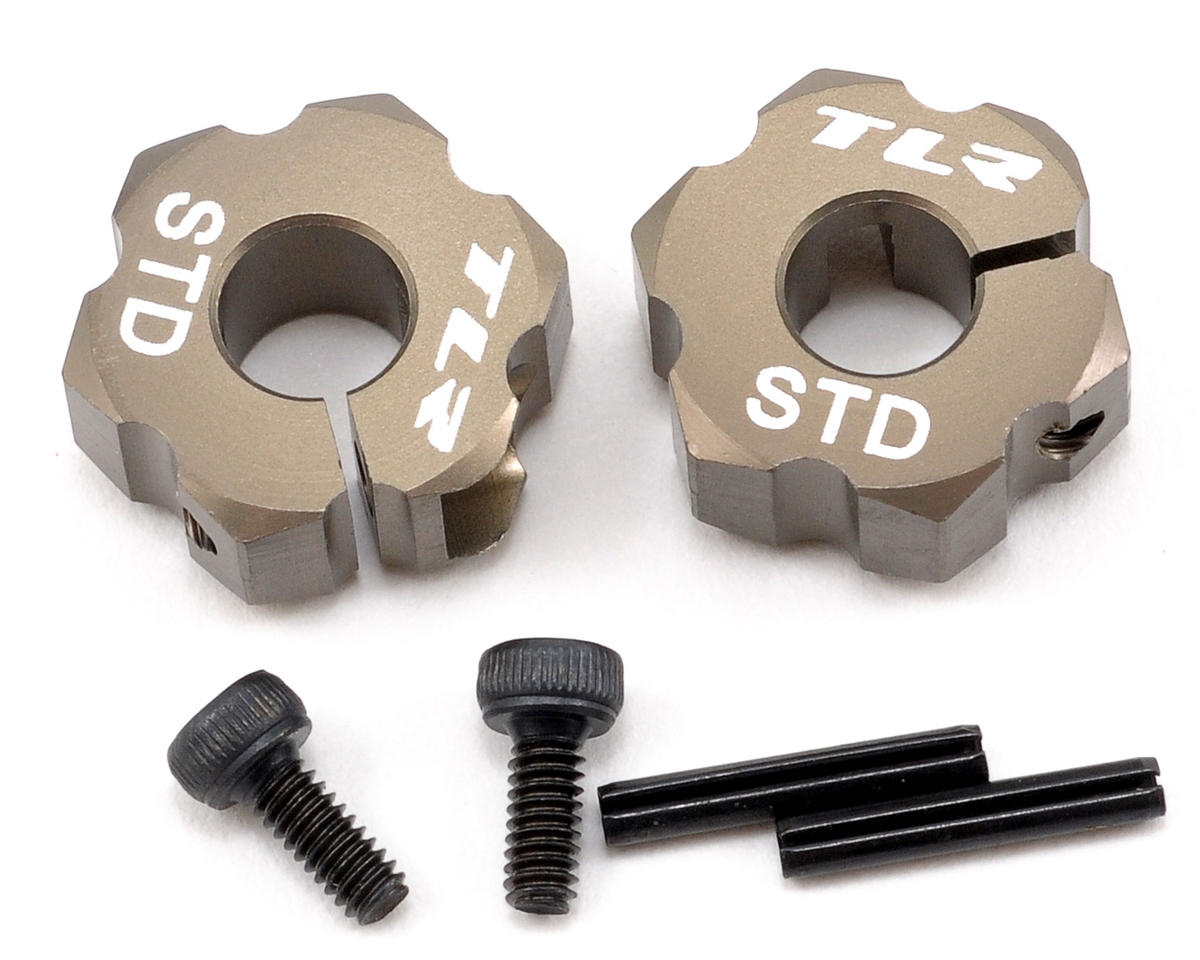 Team Losi 22 5.0 Elite Racing 12mm Aluminum Rear Hex Set (Standard Width) (TLR 22)