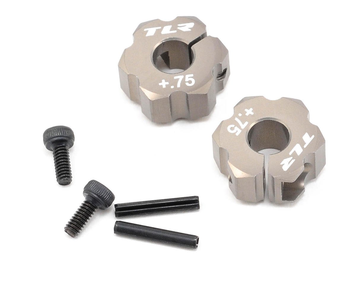 Team Losi Racing 12mm Aluminum Rear Hex Set (+.75mm Width) (TLR 22)