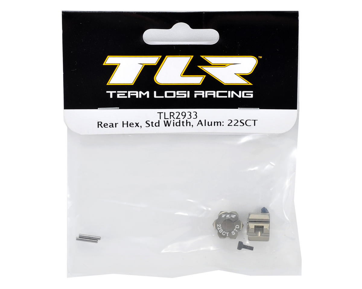 Aluminum Rear Hex Set (Standard Width) by Team Losi Racing