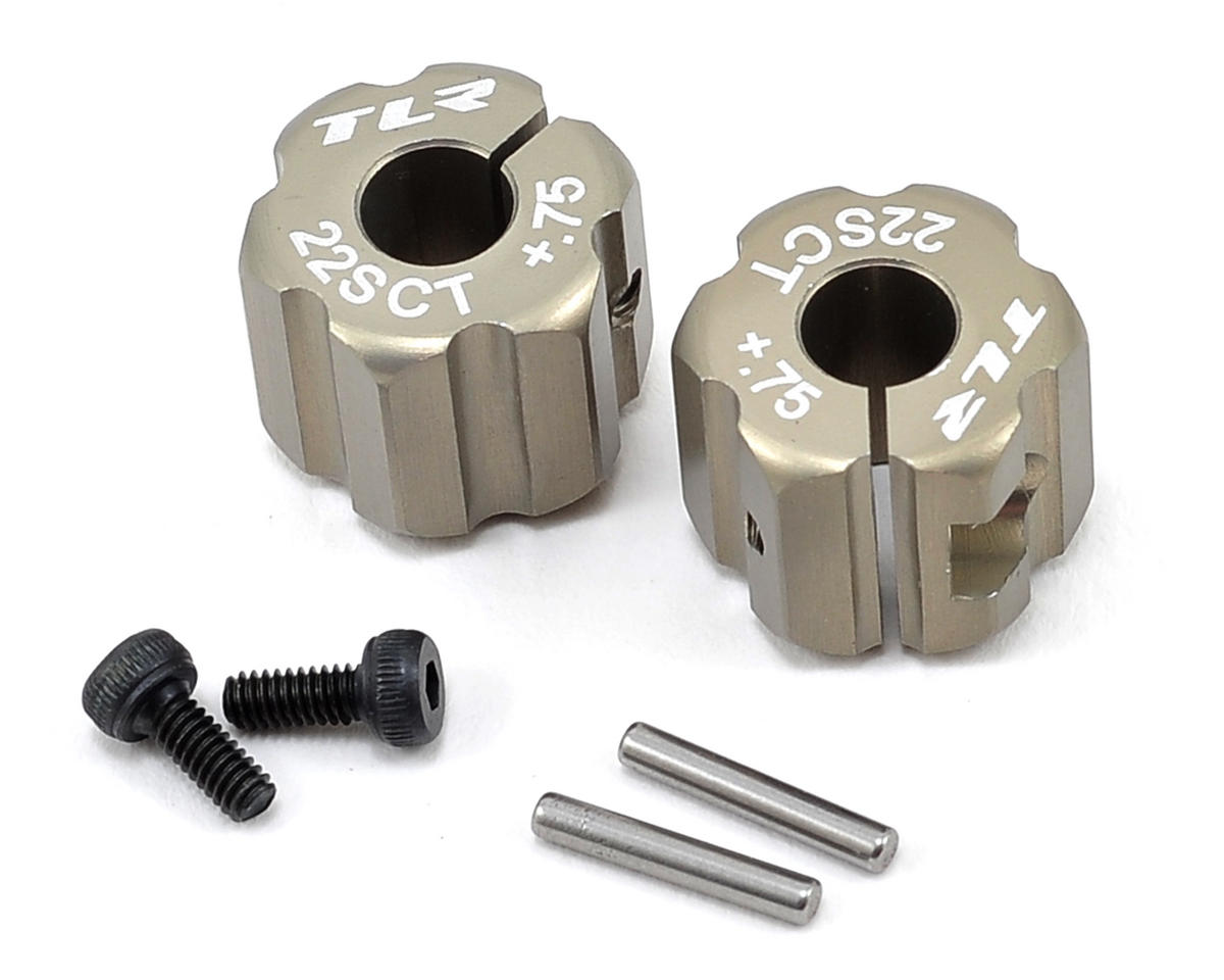 Team Losi Racing Aluminum Rear Hex Set (+.75mm Width)