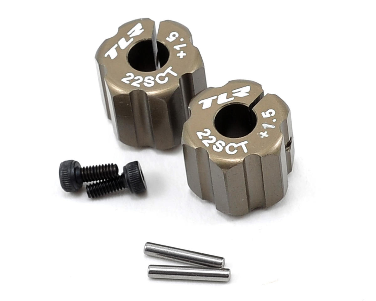 Team Losi Racing Aluminum Rear Hex Set (+1.5mm Width)