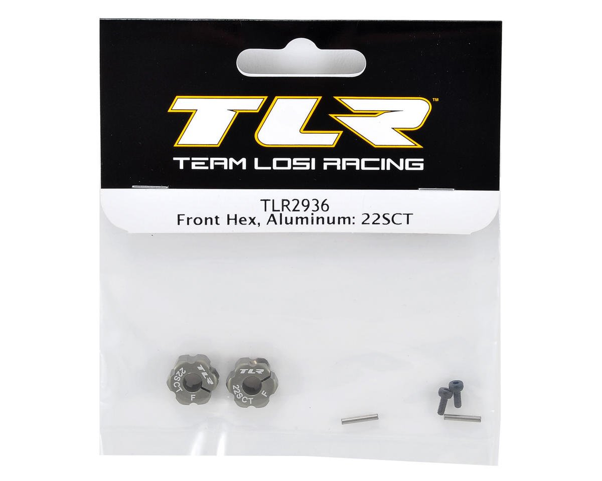 Team Losi Racing Aluminum Front Hex Set