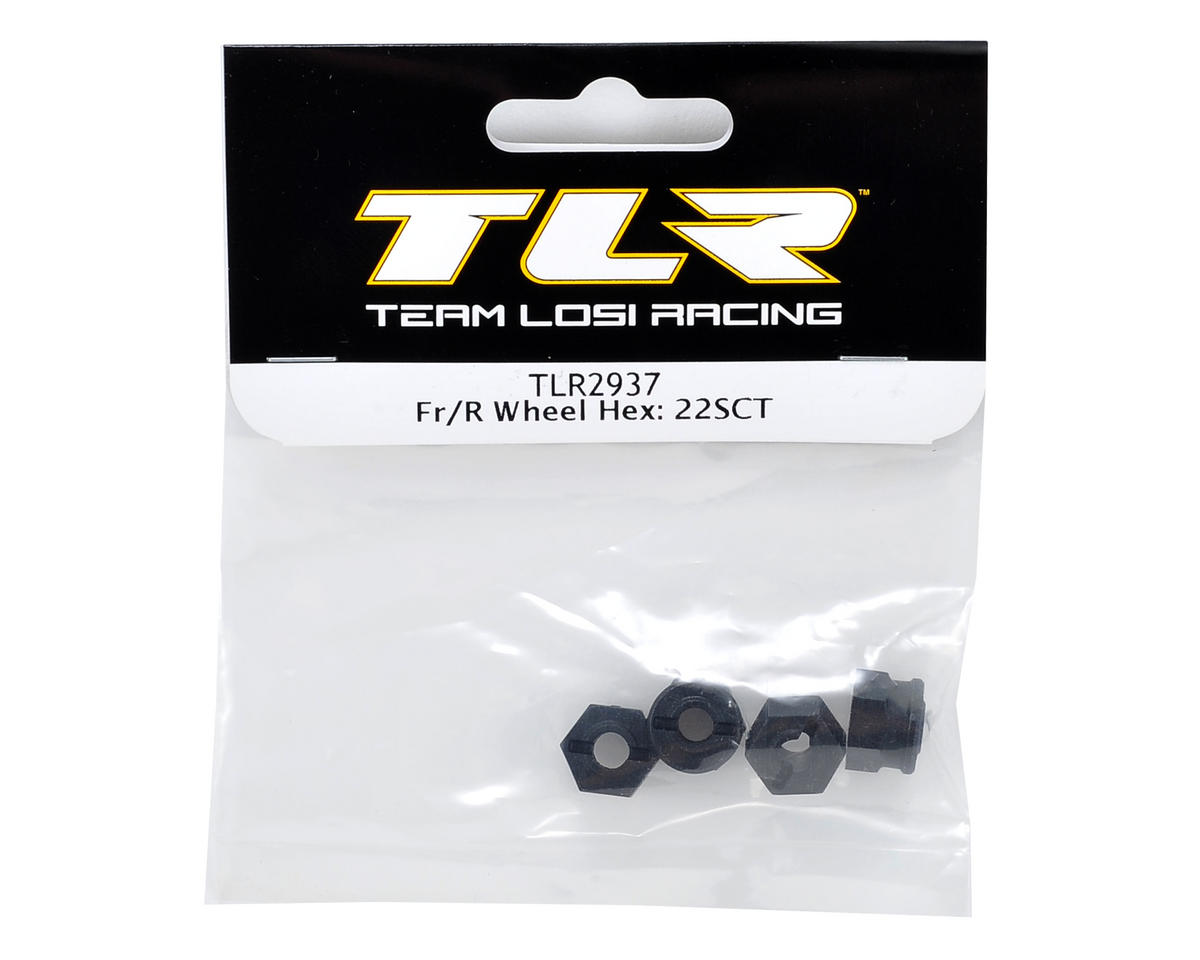Team Losi Racing Front & Rear Wheel Hex Set