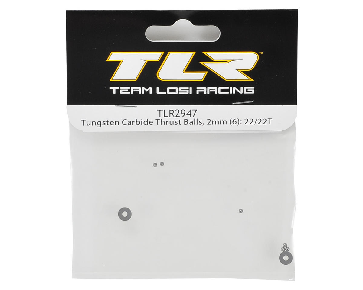 Team Losi Racing 2mm Tungsten Carbide Thrust Ball Set (6)