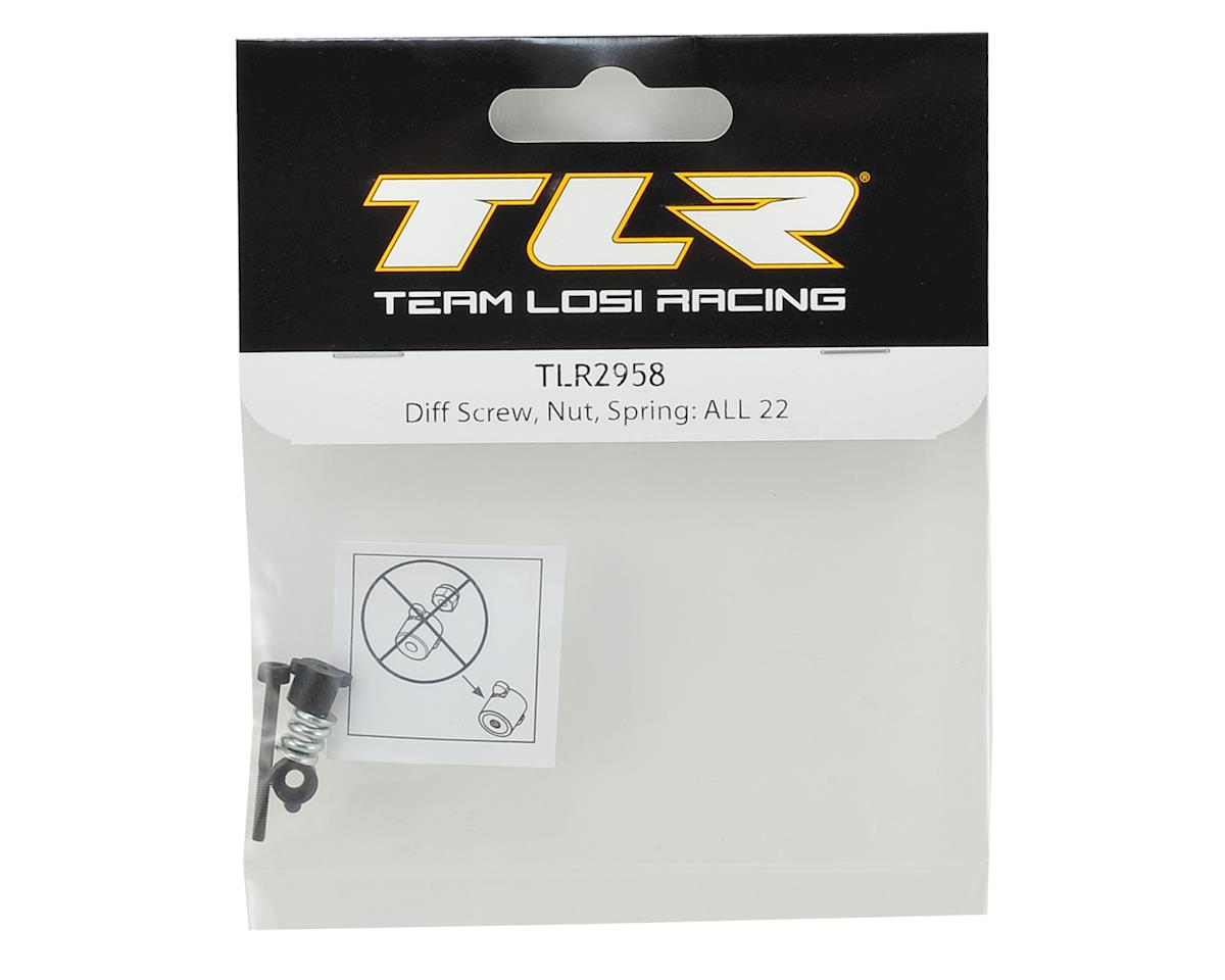 Team Losi Racing Differential Through Screw & Nut Set (TLR 22)