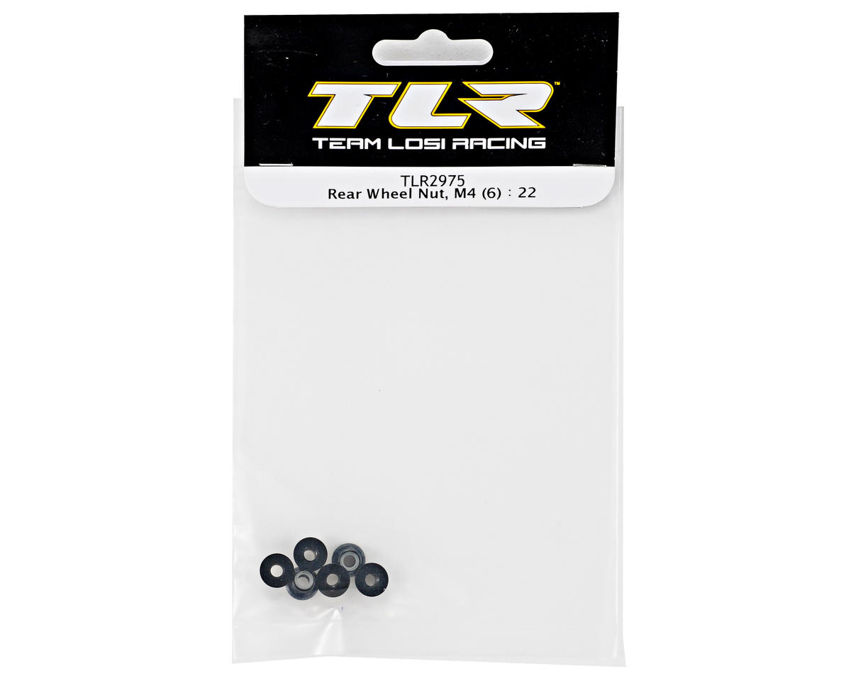 Team Losi Racing M4 Rear Wheel Nut Set (6) (TLR 22)