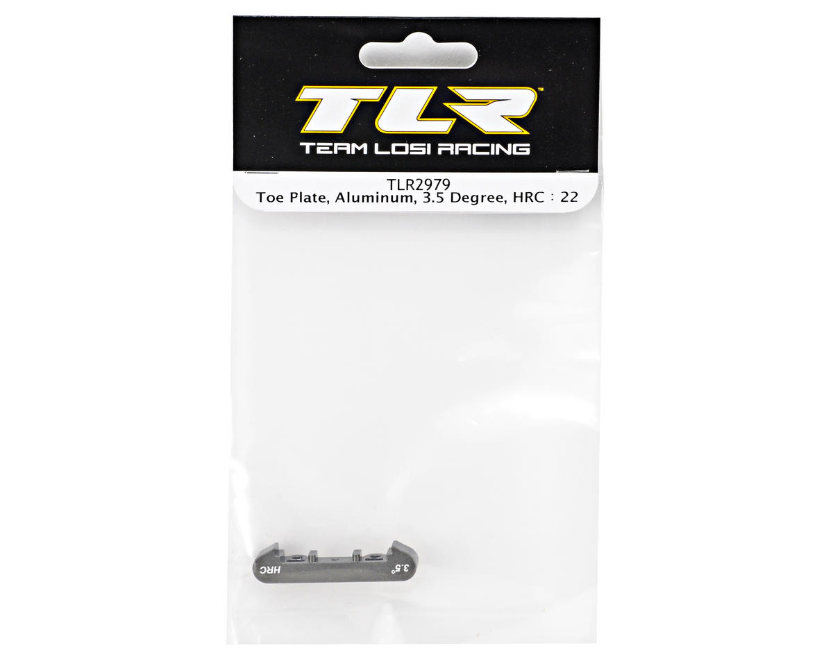 Team Losi Racing Aluminum 3.5° High Roll Center Toe Plate (TLR 22)