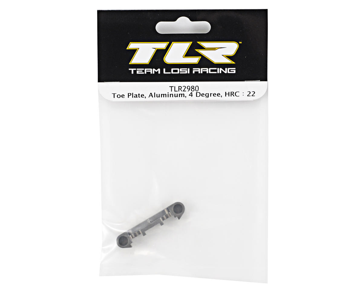 Team Losi Racing Aluminum 4° High Roll Center Toe Plate (TLR 22)