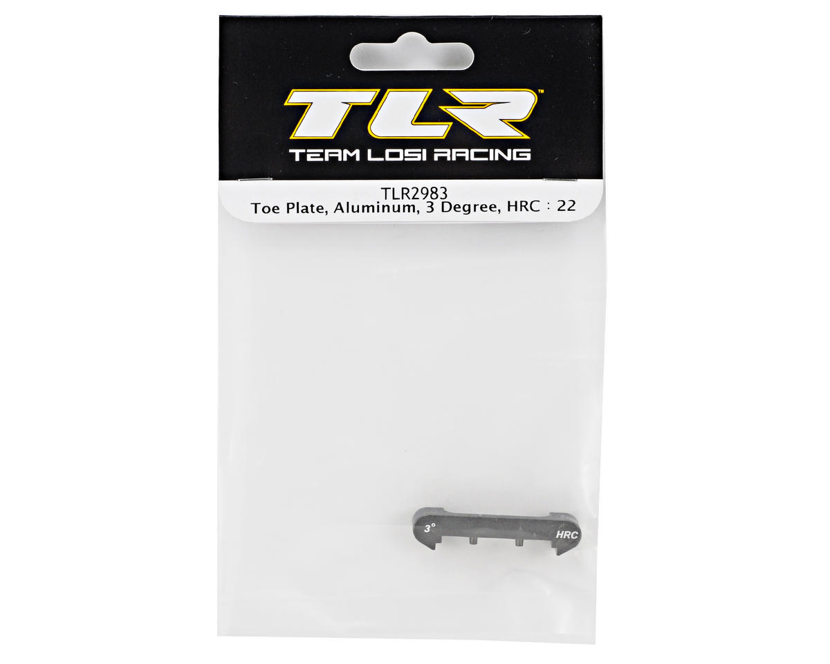Team Losi Racing Aluminum 3° High Roll Center Toe Plate (TLR 22)