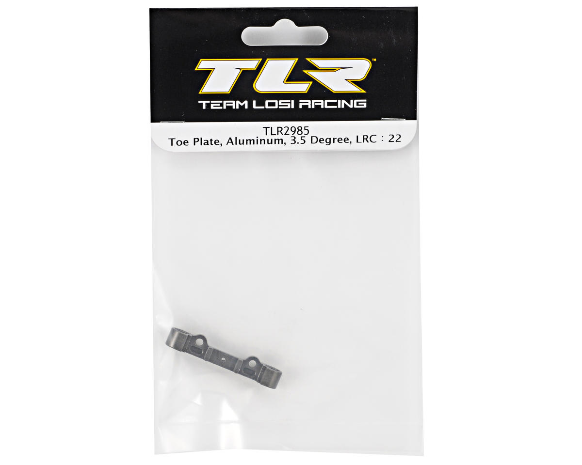 Team Losi Racing Aluminum 3.5° Low Roll Center Toe Plate (TLR 22)