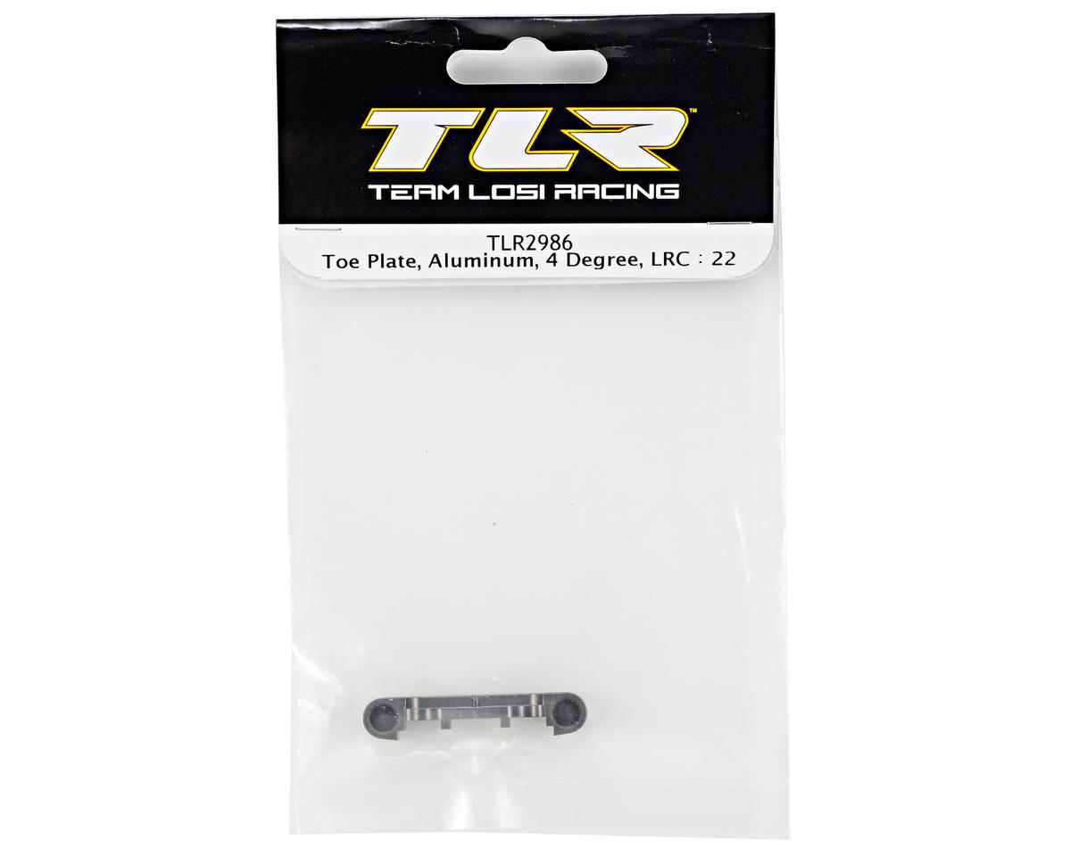 Team Losi Racing Aluminum 4° Low Roll Center Toe Plate (TLR 22)