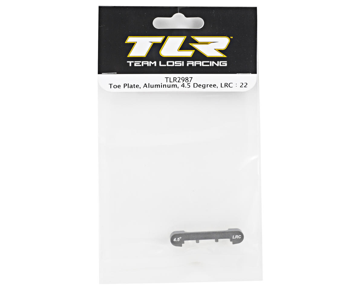 Team Losi Racing Aluminum 4.5° Low Roll Center Toe Plate (TLR 22)