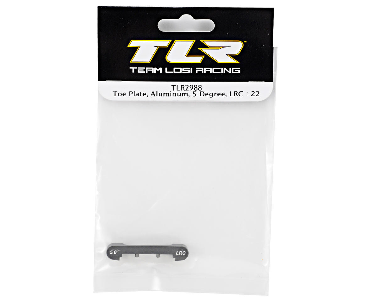 Team Losi Racing Aluminum 5° Low Roll Center Toe Plate (TLR 22)