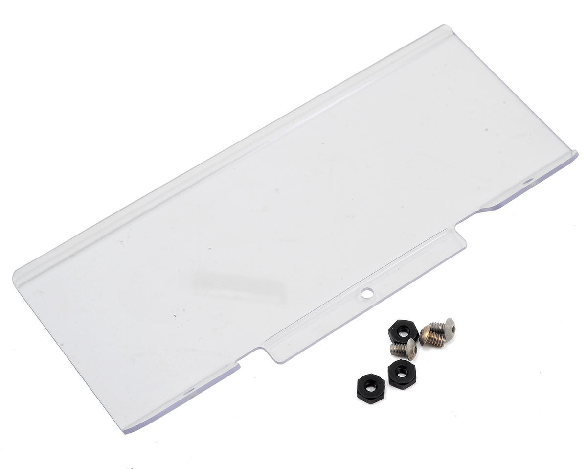 22T 2.0 Mid Motor Thick Rear Spoiler (Clear) by Team Losi Racing