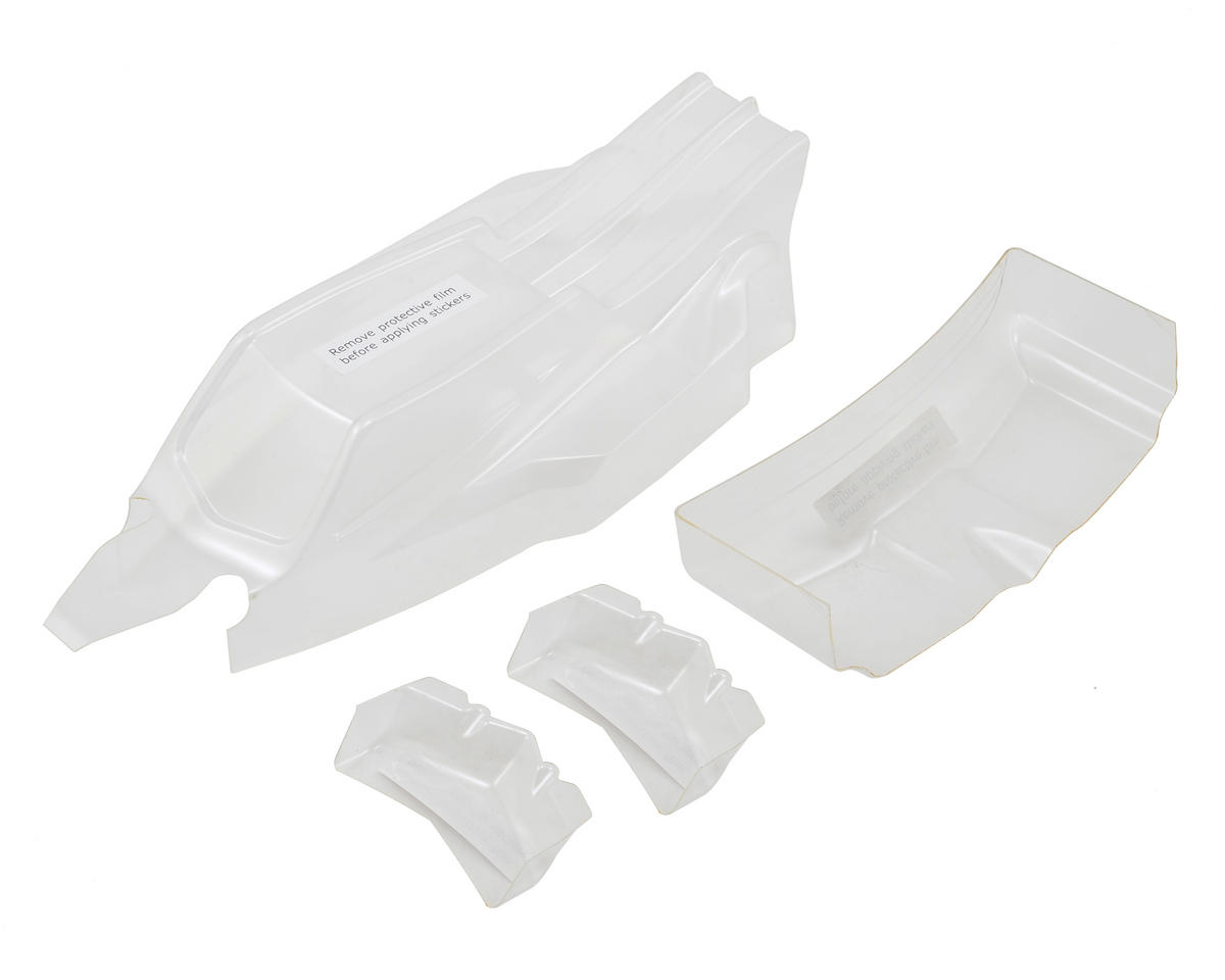 Team Losi 22 3.0 Racing Laydown Body & Wing Set (Clear)
