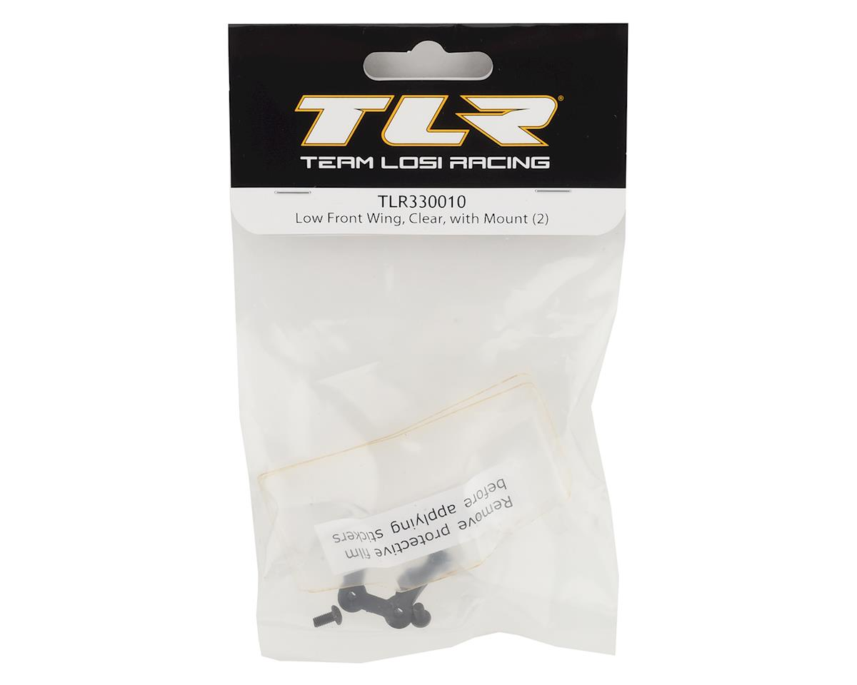 Team Losi Racing Low Front Wing w/Mount (Clear) (2)