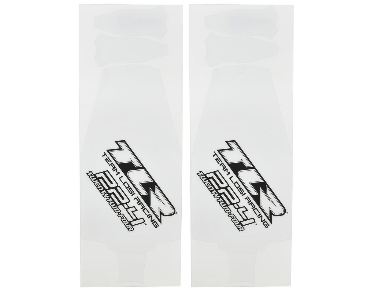 22-4 Precut Chassis Protective Sheet (2) by Team Losi Racing