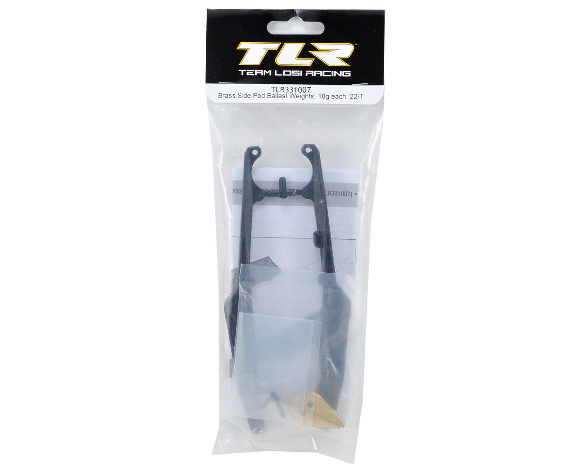 Team Losi Racing Brass Side Pod Ballast Weight Set (18g)