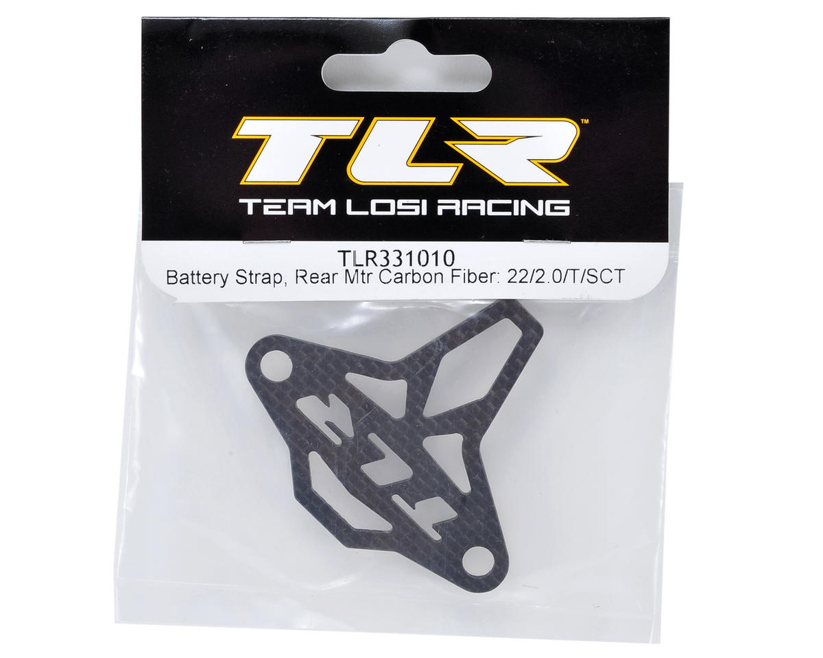 Team Losi Racing Carbon Fiber Battery Strap (Rear Motor)