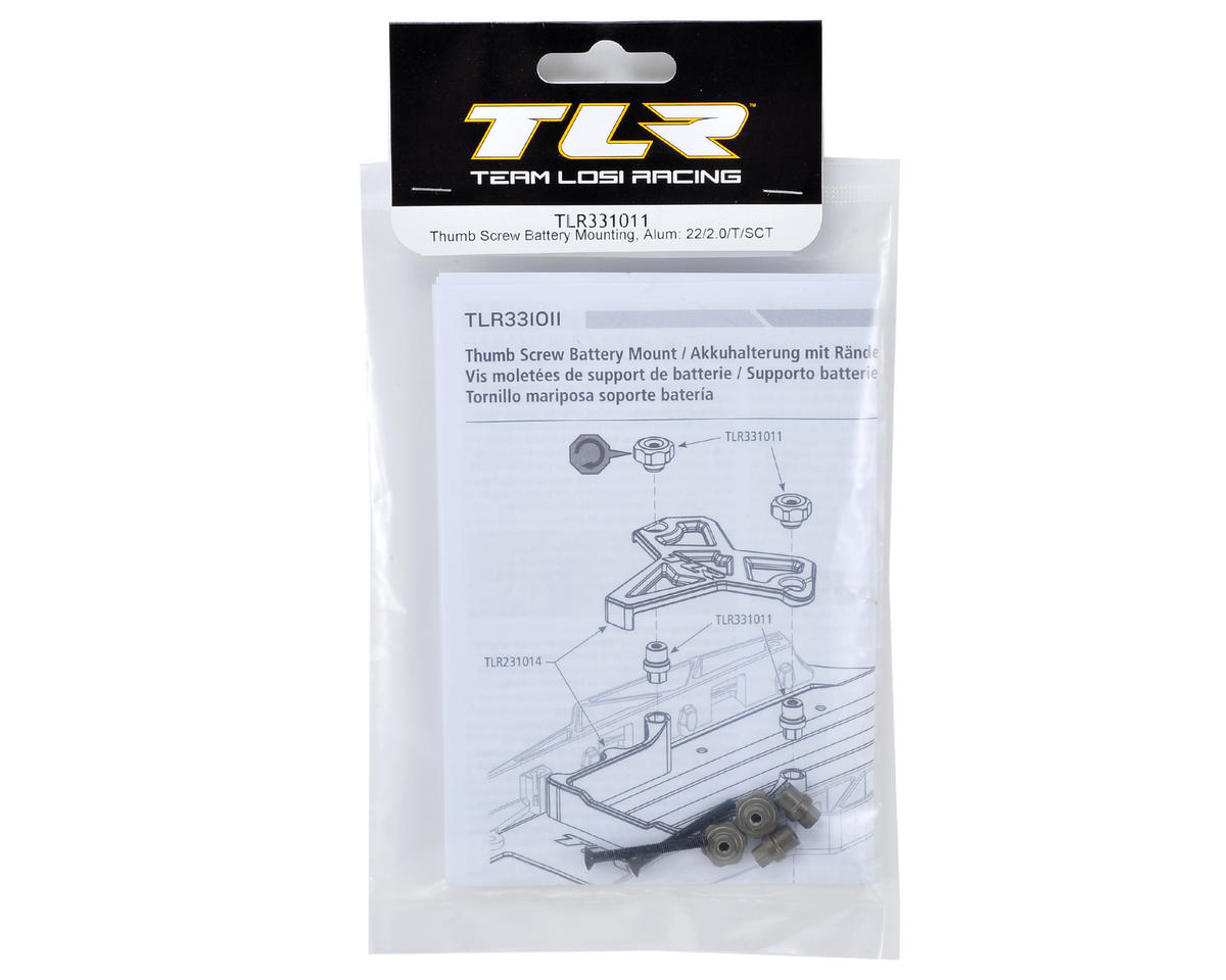 Team Losi Racing Aluminum Battery Mount Thumb Screw Kit