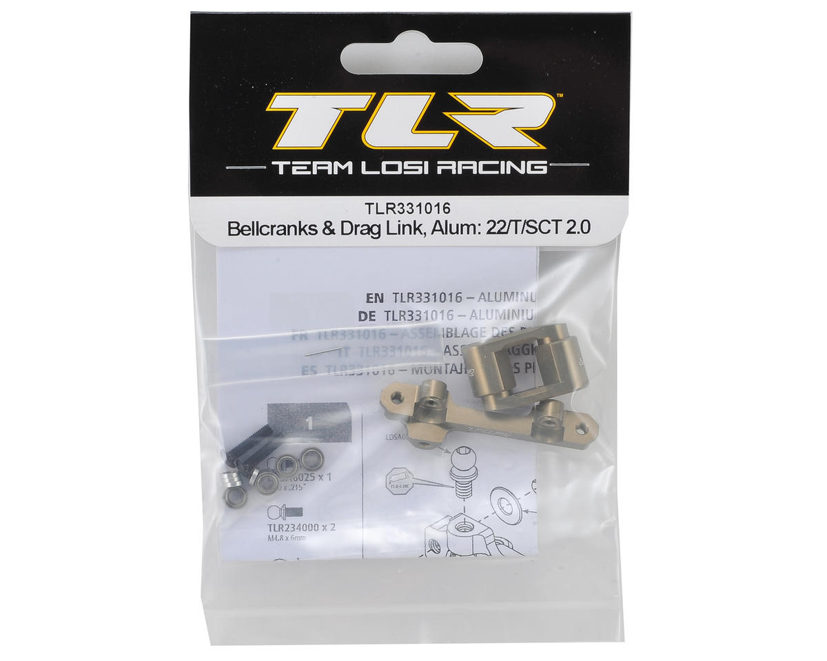 Team Losi Racing 22 3.0 Aluminum Bellcrank & Drag Link Set
