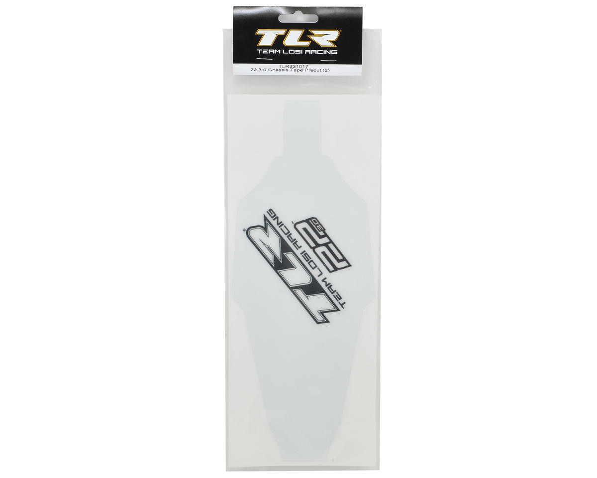 Team Losi Racing 22 3.0 Precut Chassis Protective Tape (2)