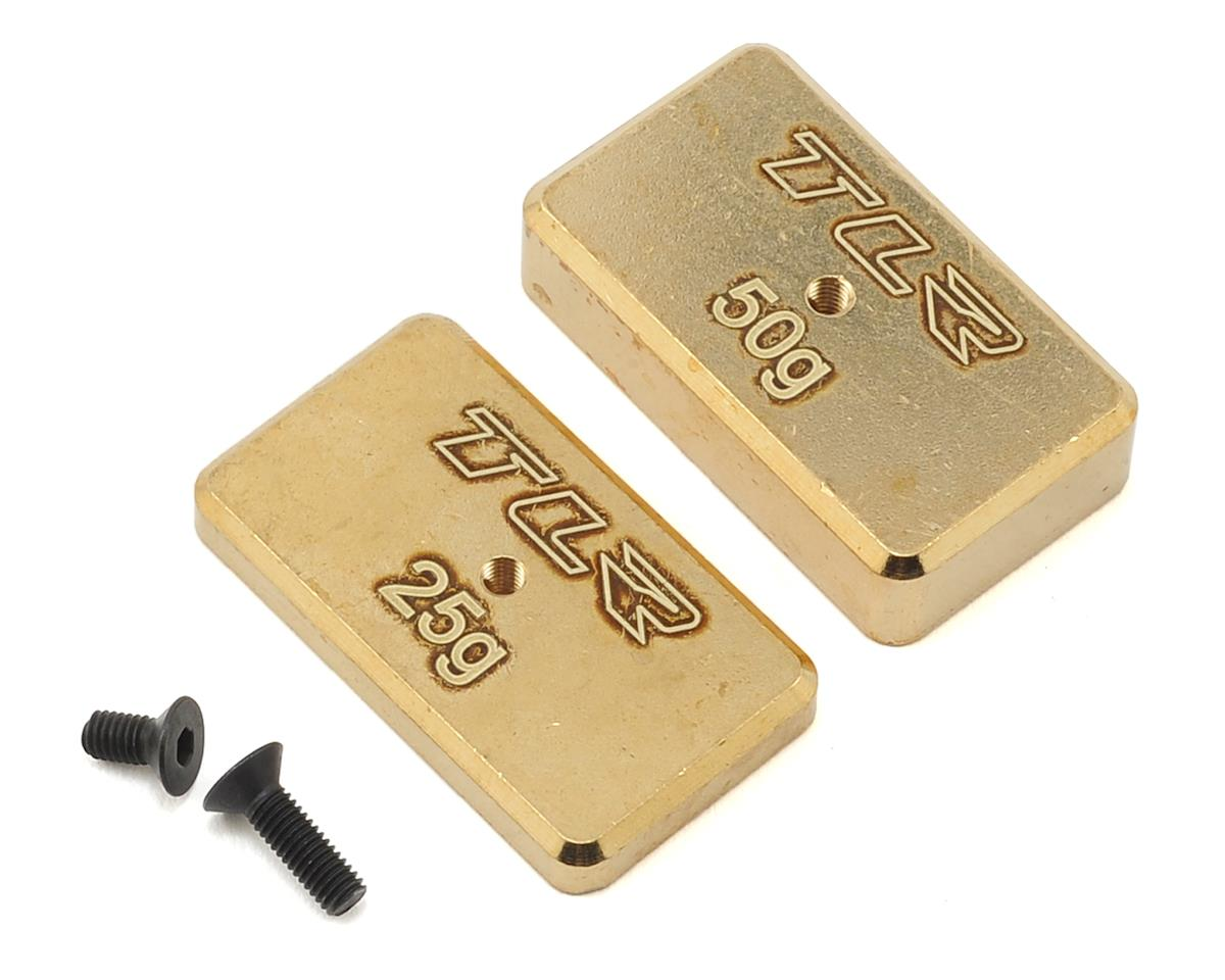 Team Losi 22 4.0 Racing Rear Brass Plate Set