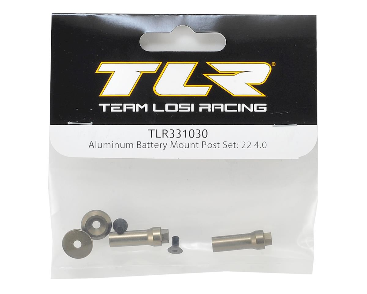 22 4.0 Aluminum Battery Mount Post Set by Team Losi Racing