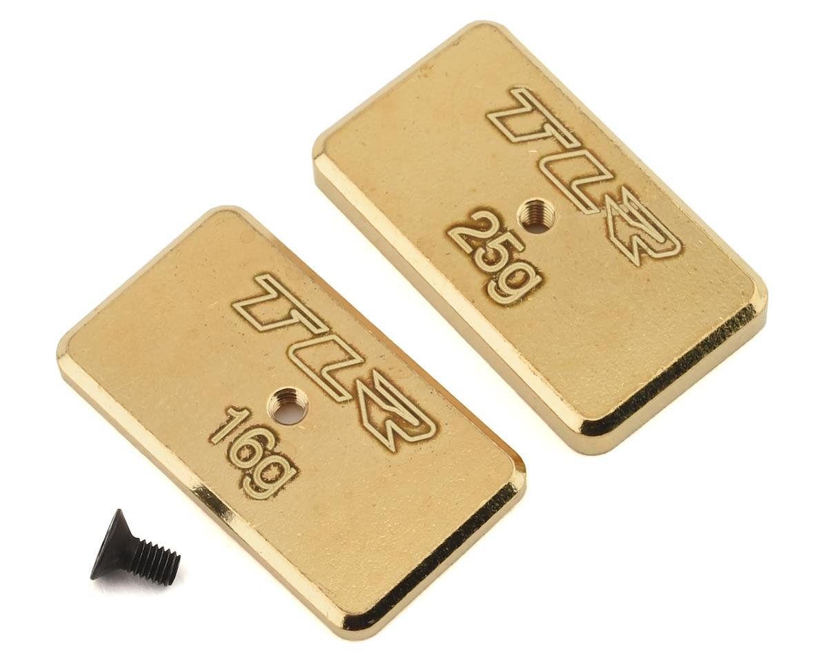Team Losi 22 5.0 AC Racing Rear Brass Weight Set (Brass) (16g & 25g)