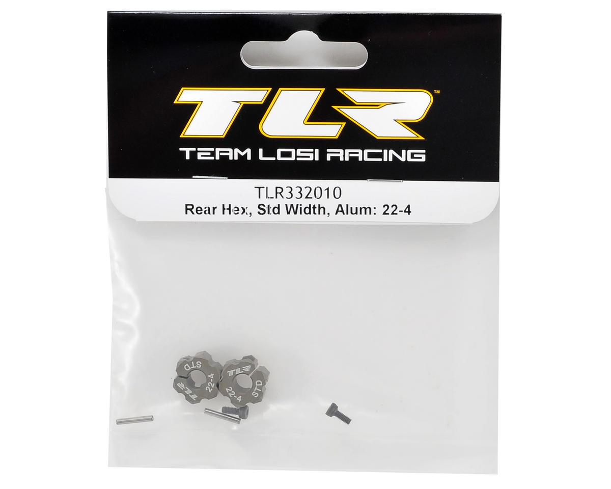 Team Losi Racing 22-4 Aluminum Rear Hex Set (Standard Width)